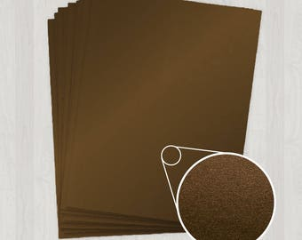 25 Sheets of Text Paper - Brown - DIY Invitations - Paper for Weddings & Other Events
