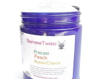 Pracaxi Peach Buttercreme 8oz natural hair cream,hair butter