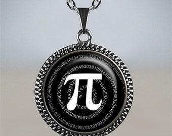 Pi pendant, Pi necklace, math pendant, math necklace, mathematician gift, math teacher gift, math geek gift  Pi Day jewelry