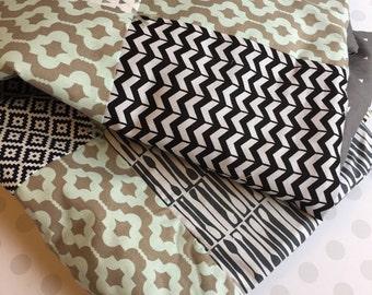 One of a Kind Baby Blanket in Gender Neutral Designer Fabrics