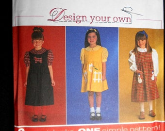 Simplicity 7821 Design Your Own Child's Blouse and Jumper Size AA (3-6)
