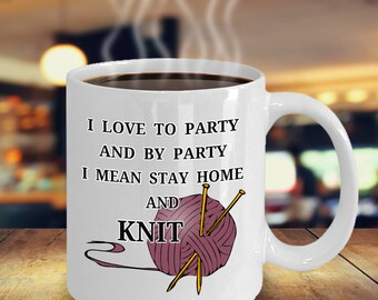 I Love Knitting Mug Funny Knitting Coffee Mugs