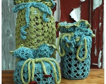 Jammies Knitting Pattern for Jam Jar Gift Bags ONLINE DOWNLOAD