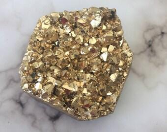 SALE - Gold Titanium Quartz
