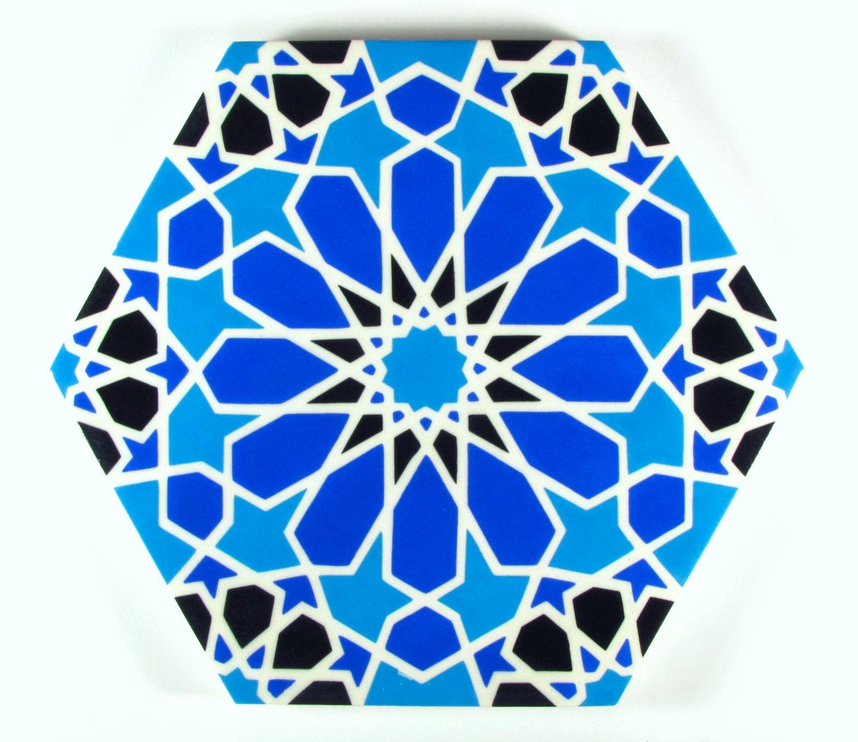 Azules y blancos azulejos azulejos marroquíes azulejos