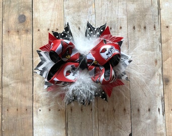 Cardinals Over the Top Boutique bow