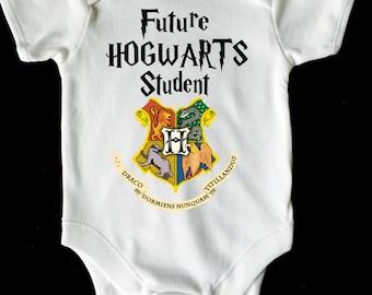 FUTURE HOGWARTS STUDENT baby vest romper white