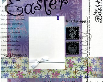 Easter - 12x12 Premade Scrapbook Page