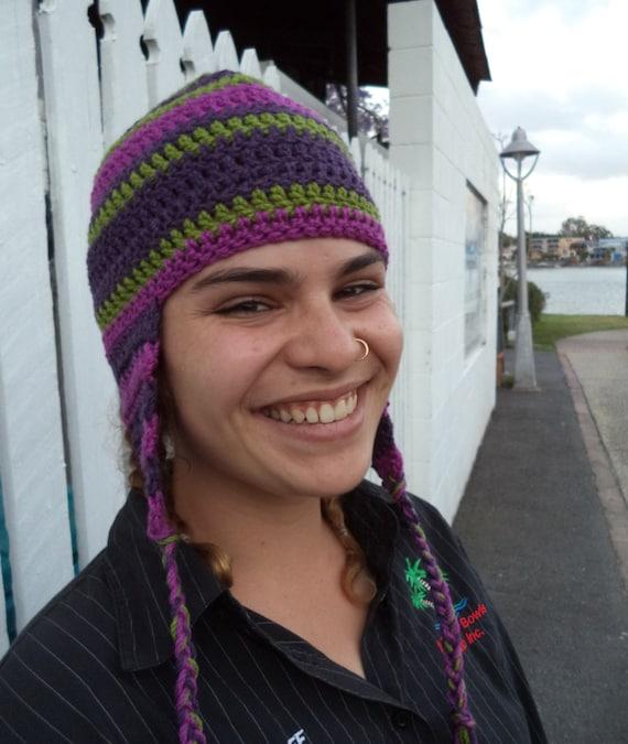 Crochet Pattern Ear Flap Hat Pattern Crochet Beanie For