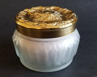 Vintage NOS 1970 Estee Lauder Re-Nutriv Sheer Bisque Face Powder In Collectible Frosted Jar / Unused / No Box / Gift for Her