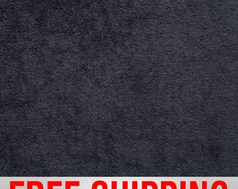 """Terry Cloth Fabric. Black. 57"""" Wide. 100% Cotton. Free Shipping Style# TC-8010"""