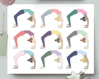 Wheel Pose/Backbend (Repeat) - Yoga Print