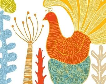 LARGE limited edition print - Birdland