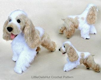 104 English Cocker Spaniel dog with wire frame - Amigurumi Crochet Pattern PDF file by Chirkova Etsy