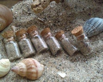 Sand from the Irish Beach in miniature bottle, Wedding favors, beachsand