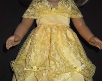 American Girl Doll Clothes - Yellow Belle Gown - #268