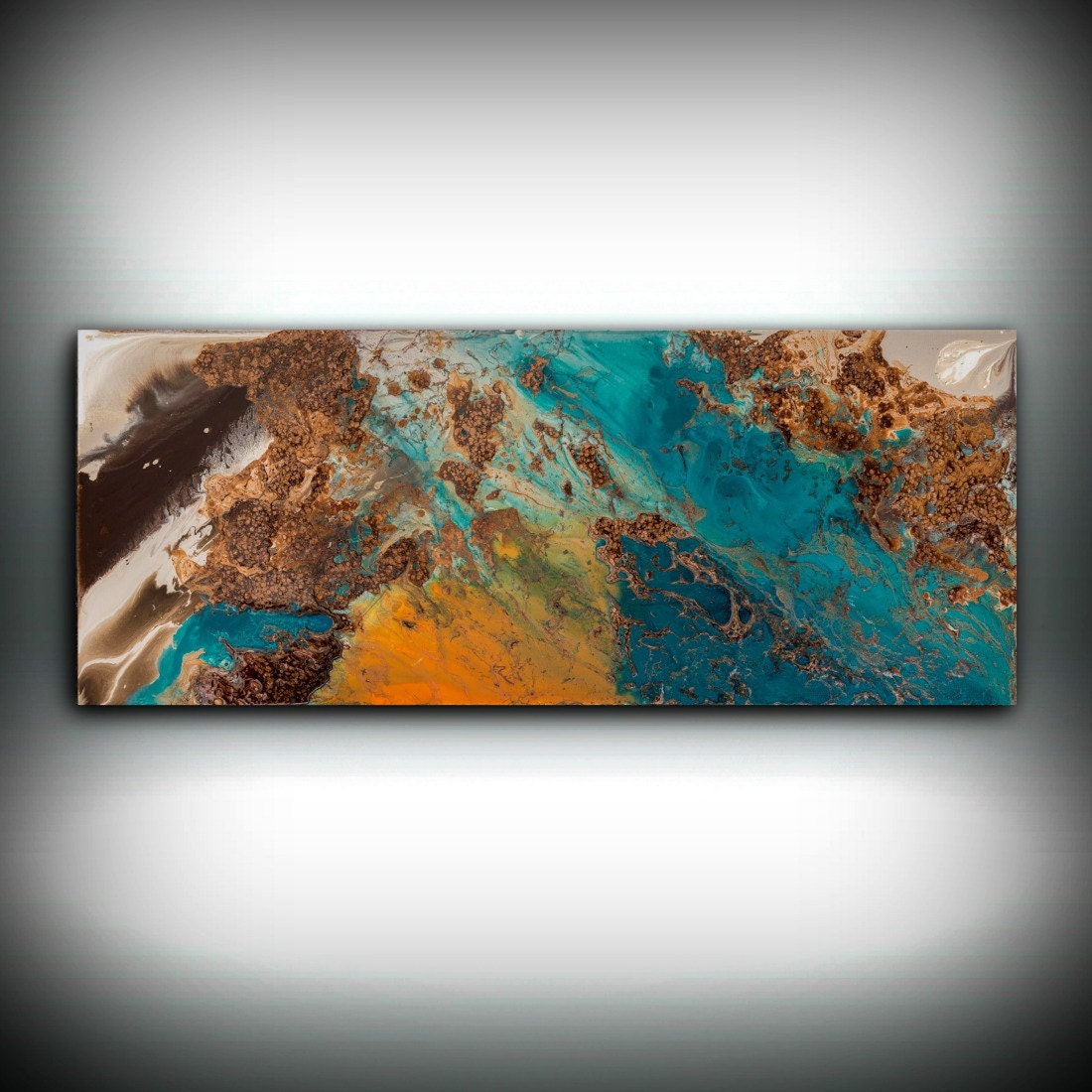 SALE Blue And Copper Art, Wall Art Prints Fine Art Prints Abstract Painting  Wall Decor Art Print Blue Painting Large Abstract Print Wall Art