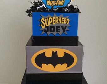 Superhero Batman Birthday Centerpiece