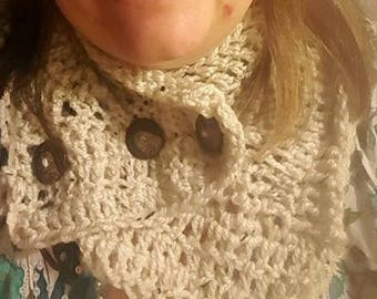 Crochet Natural Snood