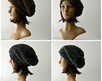 Bonnet phrygien, slouch hat au crochet, crochet chapeau rasta Cap crochet style chapeau laine lourde