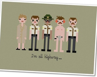 Super Troopers - The *Original* Pixel People - PDF Cross-stitch Pattern - INSTANT DOWNLOAD