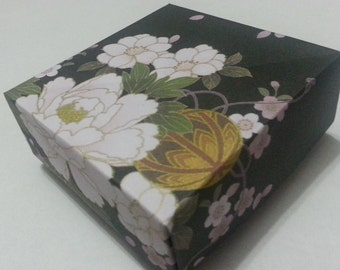 Origami Masu Boxes - Lovely Floral series (Traditional Japanese Washi pattern) - II