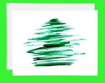 SALE Christmas Tree Card - Simple Christmas Card - Simple Holiday Card - Merry Christmas Card - Cute Christmas Cards - Cute Holiday Cards