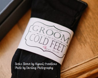 """Groom """"Cold Feet"""" Socks Printable Label - To My Handsome Groom Just In Case You Get Cold Feet Love Your Bride"""