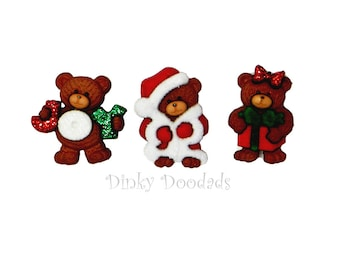A BEARY MERRY CHRISTMAS by Dress It Up!  (Jesse James) for card making, scrapbooking, Christmas buttons, bear buttons, Christmas bears