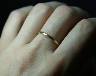 Stack ring, Stacking ring, Gold ring, Thin gold ring, Smooth ring, Knuckle ring, Dainty ring, 14k GOLD filled