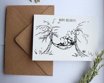Happy Holidays greeting card, gift card, greeting card