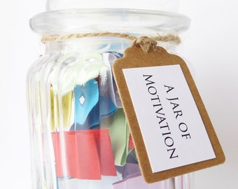 SPECIAL OFFER A Jar of Motivation - Positive Encouraging Quotes of Motivation - Handmade Message Jar Gift