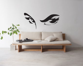 Beauty Wall Decals Eyes Woman Beautiful Decal Stickers Beauty Hair Salon  Name Hours Phone Number 003RE
