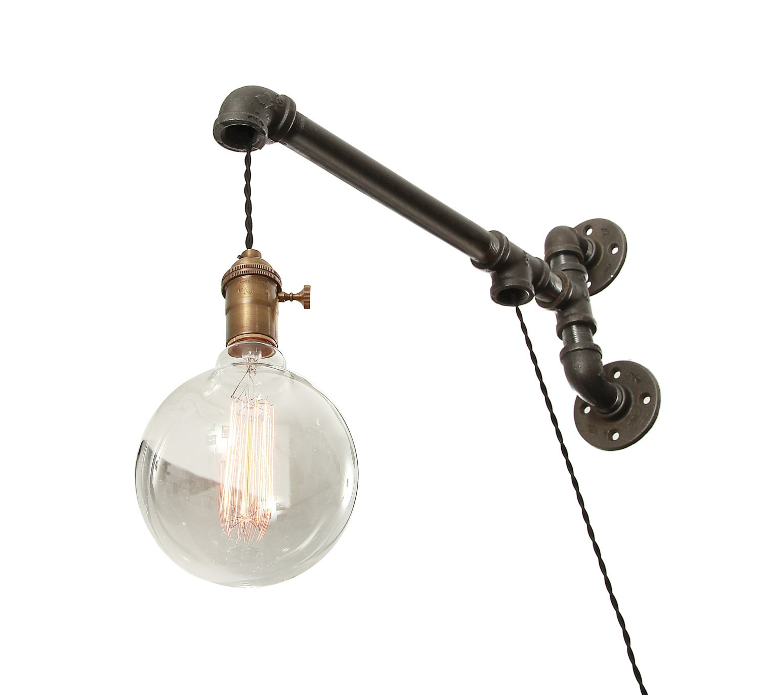 Industrial Pipe Wall Light: Industrial Pipe Wall Light Wall Light Pipe Light Wall