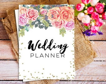 Wedding planning kit etsy the ultimate wedding planner printable wedding planner organizer kit diy solutioingenieria Gallery