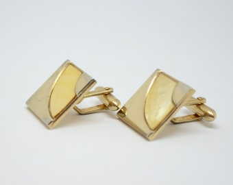Mother Of Pearl Inlay Vintage Swank Cufflinks
