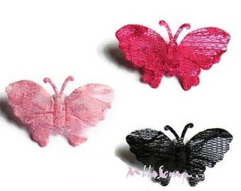 Set of 4 Butterfly lace embellishment scrapbooking (ref.310). *.