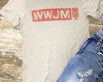 WWJM Tee, Willie, Waylon, Johnny, Merle Tee