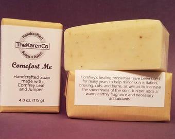 Comfrey Soap, Cold Process Soap, Vegan Soap, Essential Oils, Herbal Soap, Natural Soap