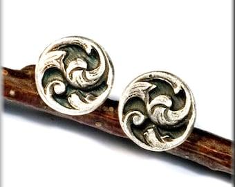 "Post earrings ""Elja"" made of 999 finesilver"