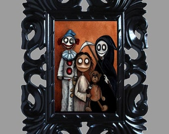 Dark Fantasy Lowbrow Art Print -- Art  Prints and Posters Giclee - Family Values - Wall Art Decor