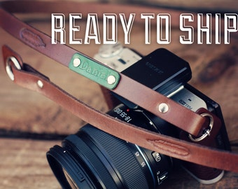 READY to SHIP Camera Strap, Custom Leather Camera Strap, Last Minute Gift Ideas, Feather, hipster feather, mirrorless, Custom name, initials