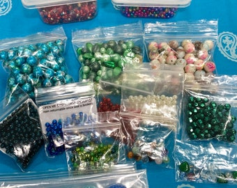 1 Pound+ Assorted Larger Beads or Jewelry Making