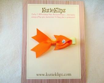 SALE - Energized Goldfish Ribbon Sculpture Hair Clip...Hair Accessory...Hair Bow