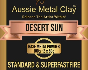 Aussie Metal Clay SuperFlex Desert Sun Bronze 100 gram pack / Flexible Metal Bronze Clay
