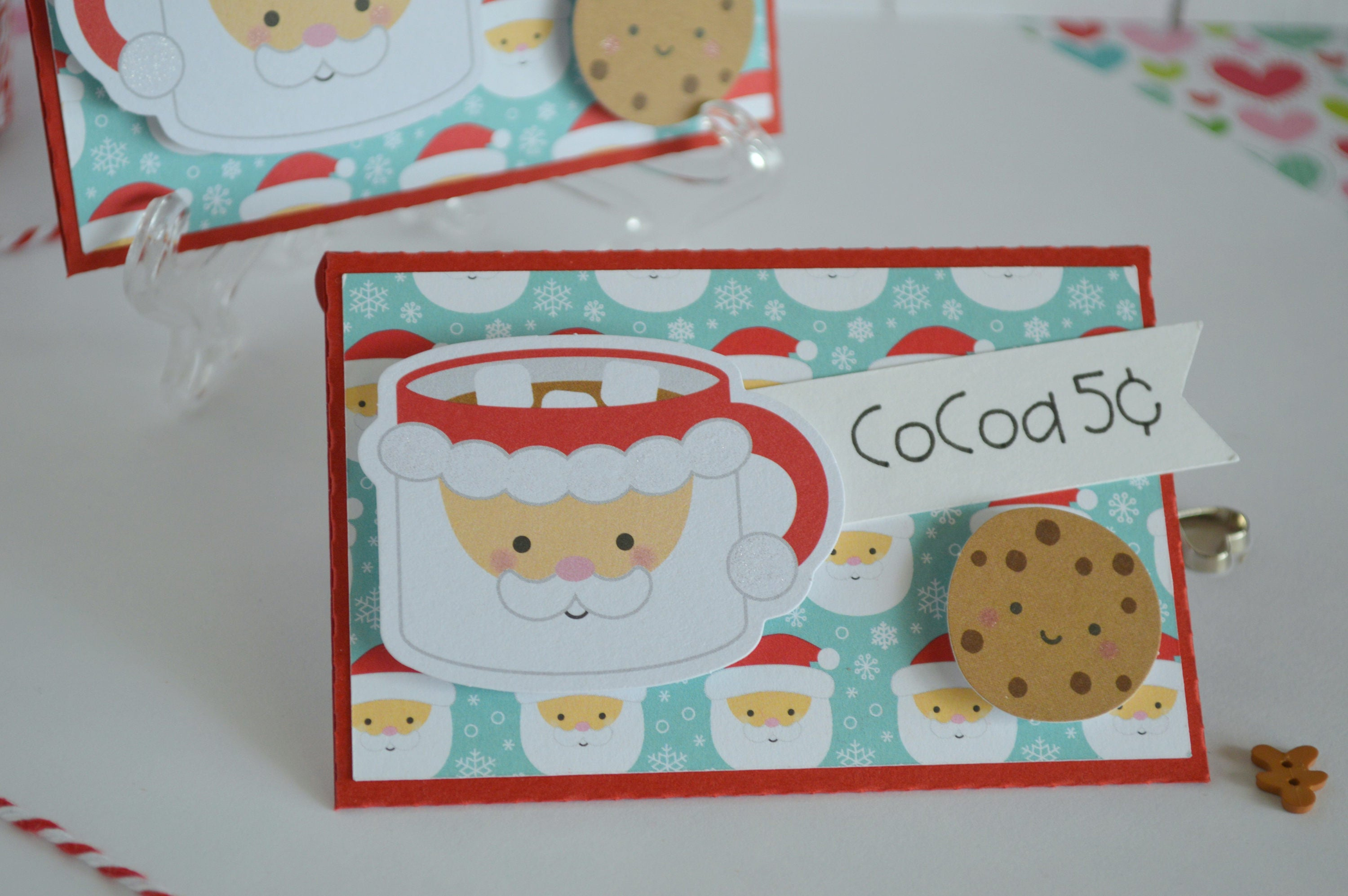 Christmas Gift Card Holder Cookies for Santa Hot Cocoa Gift