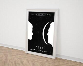 Interstellar Printable Graphic Design Minimalist Movie Poster