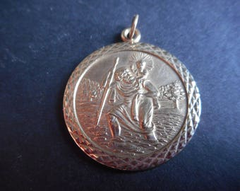 9ct Gold Saint Christopher Pendant Hallmarked 5.8 Grams