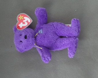 TY Teenie Beanie Babies  ,McDonald's TY Grimace bear ,McDonald's toy, Stuffed Animal  ,Purple bear , Stuffed Bear, Vintage Bear