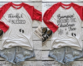 Christmas Maternity. Christmas Pregnancy Announcement. Christmas Maternity Shirt. Maternity Christmas Shirt. Pregnancy Announcement Shirt.